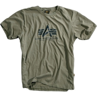 TRIČKO ALPHA BASIC T-SHIRT-olive
