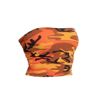 Dámsky Top - TUBE ORANGE CAMO